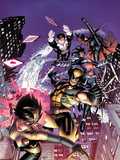 Astonishing X-Men No.48 Cover: Karma, Wolverine, Iceman, Northstar, Gambit, and Warbird Print by Dustin Weaver