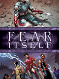 Fear Itself No.6 Cover: Captain America, Iron Man, Spider-Man, Wolverine, Spider Woman and Hawkeye Prints by Steve MCNiven