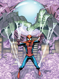 Marvel Adventures Spider-Man No.14 Cover: Mysterio Trapping Spider-Man Prints by Scherberger Patrick