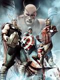 Captain America: Hail Hydra No.2 Cover: Thor, Iron Man, Captain America, and Wasp Poster par Adi Granov