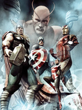 Captain America: Hail Hydra No.2 Cover: Thor, Iron Man, Captain America, and Wasp Poster by Granov Adi