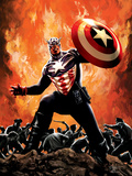 Captain America No.35 Cover: Captain America Prints by Butch Guice