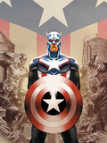 Captain America No.45 Cover: Captain America Poster by Epting Steve