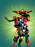Wizard No.136 Cover: Captain America, Wolverine, Spider-Man, Spider Woman, Iron Man & New Avengers Prints by Cheung Jim