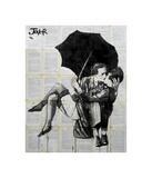 Vintage Kiss Giclee Print by Loui Jover
