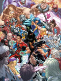 New X-Men No.22 Cover: X-23, Hellion, Rockslide, Dust, Surge and Mercury Print by Mark Brooks