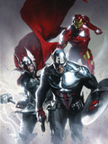 Secret Invasion No.6 Cover: Captain America, Thor and Iron Man Photo