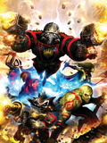 Guardians Of The Galaxy No.1 Cover: Star-Lord, Drax The Destroyer and Rocket Raccoon Kunstdruck von Paul Pelletier