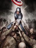 Captain America: Hail Hydra No.4 Cover: Captain America with His Shield Photo by Adi Granov