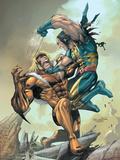 X-Men No.164 Cover: Wolverine and Sabretooth Poster by Larroca Salvador