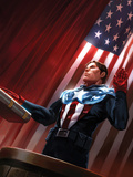 Captain America No.613 Cover: Captain America Standing in Front of the American Flag Print by Djurdjevic Marko
