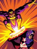 Captain America V4, No.30 Cover: Captain America and Batroc The Leaper Posters by Dave Johnson