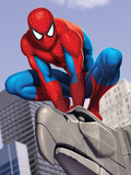 Spider-Man In the City on Gargoyle Poster