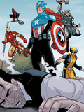 Heroic Age: One Month to Live No.5: Captain America, Wolverine, Iron Man, Thor, and Spider-Man Photo by Jamie McKelvie