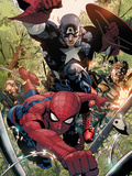 Avenging Spider-Man No.5: Spider-Man and Captain America Posters by Leinil Francis Yu