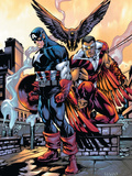 Captain America And The Falcon No.10 Cover: Captain America and Falcon Print by Howard Porter
