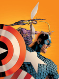 Avengers No.77 Cover: Captain America, Wasp, Hawkeye and Avengers Print by Cassaday John