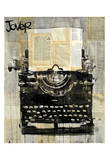 Typewriter Print by Loui Jover