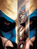 Wolverine No.40 Cover: Wolverine, Captain America, Iron Man and Spider-Man Posters by Saltares Javier