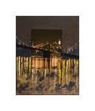 Brooklyn Bridge at Night Giclee Print by Mauro Baiocco