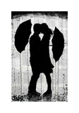 Umbrellas and Love Giclee Print by Loui Jover