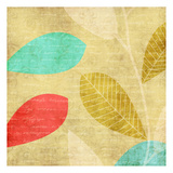 Vivd Leaves Print by Kristin Emery