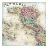 World Map 6 Print by Kristin Emery