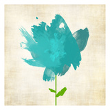 Brush Stroke Flowers Blue Posters by Kristin Emery