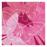 Butterflys Pink 1 Posters by Kristin Emery