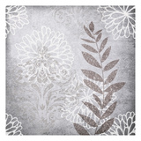 Warm Grey Flwers Mate Poster by Kristin Emery