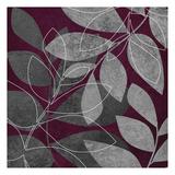 Grey Purple Leaves 2 Prints by Kristin Emery