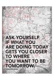 Ask Your Self Poster af Jace Grey