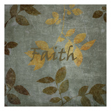Faith Leaves Print by Kristin Emery