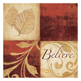 Red Gold Believe Posters by Kristin Emery