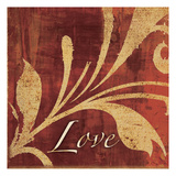 Red Gold Love Prints by Kristin Emery