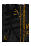 Black Gold Bamboo Left large 1 Posters by Kristin Emery