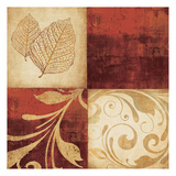 Red Gold 3 Prints by Kristin Emery