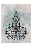 Chandelier Splash Of Blue 1 Posters by Kristin Emery
