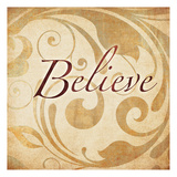 Red Gold Believe 2 Poster by Kristin Emery