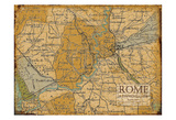 Environs Rome Sepia Posters by Carole Stevens