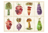Veggies Posters by Kristin Emery
