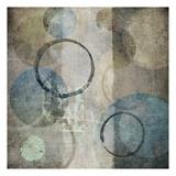 Sone Circles Blue Print by Kristin Emery