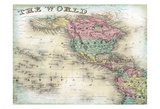 World Map 6 Prints by  Ophelia & Co.