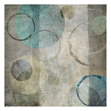 Stone Circles Blue Mate 2 Poster by Kristin Emery
