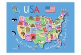 USA Affiches par Carla Daly