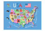 USA Prints by Carla Daly