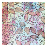 Shabby Floral B Bright Poster by Kristin Emery