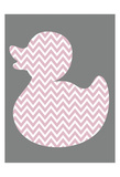 Pink Duck Mate 2 Poster by Kristin Emery