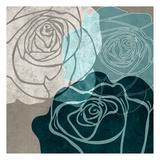 Navy Rose Art by Kristin Emery