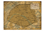Environs Paris Sepia Print by Carole Stevens